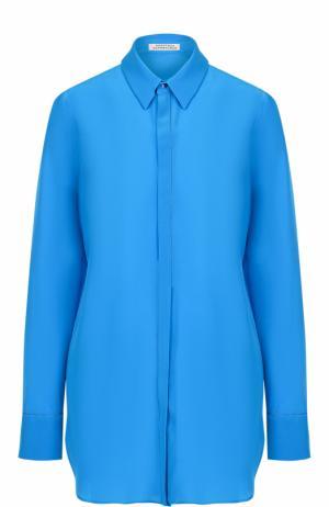 Шелковая блуза свободного кроя Dorothee Schumacher. Цвет: синий