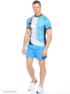 Футболка Alpine PRO. Цвет: голубой