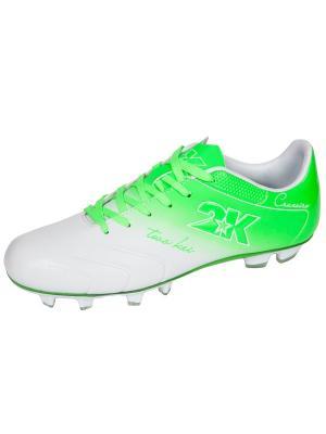 Футбольные бутсы Cruzeiro 2K. Цвет: белый, зеленый