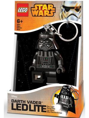 Брелок-фонарик для ключей LEGO Star Wars - Darth Vader (Дарт Вейдер). Цвет: черный