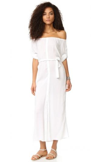 Макси-платье Babs Thayer. Цвет: белый бареж