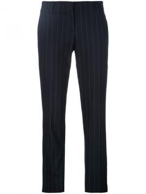 Pinstripe cropped trousers Brunello Cucinelli. Цвет: синий