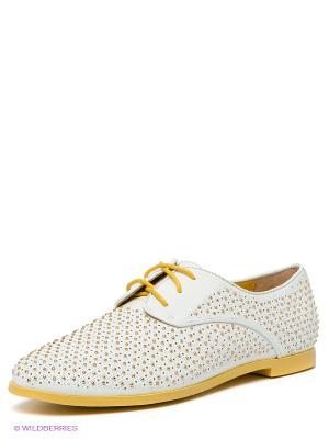 Ботинки Calipso. Цвет: белый, золотистый