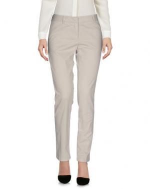 Повседневные брюки SCAGLIONE. Цвет: светло-серый