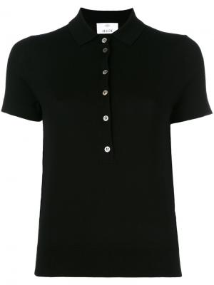 Рубашка-поло с короткими рукавами Allude. Цвет: чёрный