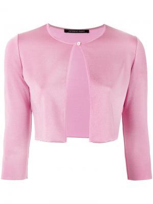 Кардиган на одной пуговице Antonino Valenti. Цвет: розовый и фиолетовый