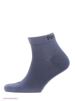 Носки Quarter Socks 3 Pair Puma. Цвет: синий, серый, темно-синий