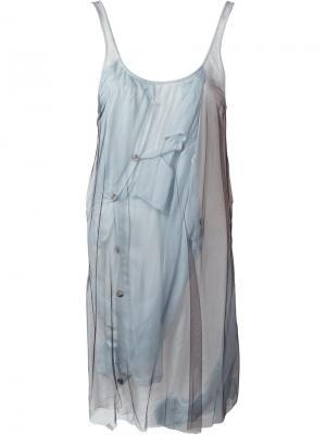 Платье на бретельках Quetsche. Цвет: белый