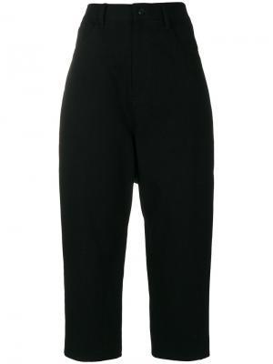 Укороченные брюки с завышенной талией Ys Y's. Цвет: чёрный
