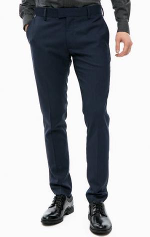 Синие трикотажные брюки Antony Morato. Цвет: синий