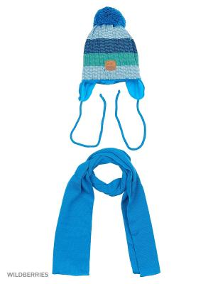 Шапка и шарф Agbo. Цвет: бирюзовый