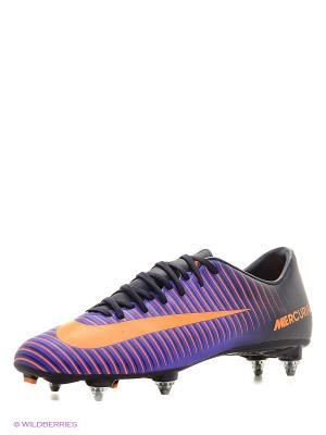 Бутсы MERCURIAL VICTORY VI SG Nike. Цвет: фиолетовый
