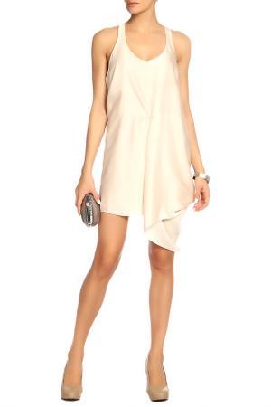 Платье Acne. Цвет: бежевый