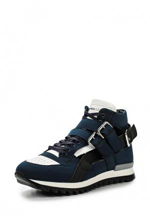 Кроссовки John Galliano. Цвет: синий