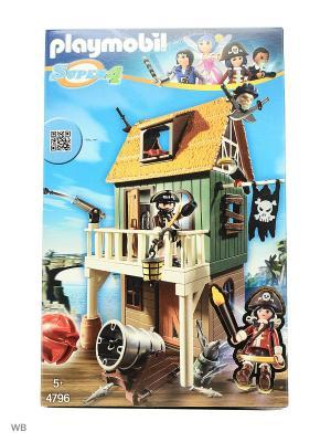 Супер4: Замаскированный Пиратский Форт с Руби Playmobil. Цвет: темно-зеленый, коричневый, серый
