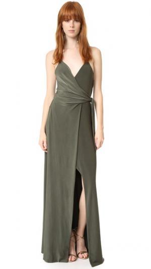 Платье Veronika MISA. Цвет: оливковый