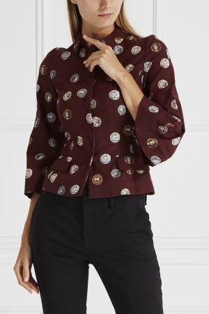 Жакет с принтом Dolce&Gabbana. Цвет: бордовый