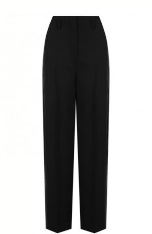 Однотонные шерстяные брюки со стрелками Lanvin. Цвет: черный