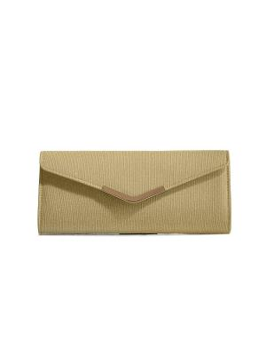 Клатч конверт В ритме Нью-Йорка со съемной цепочкой Nothing but Love. Цвет: золотистый