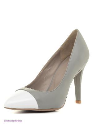 Туфли Calipso. Цвет: серый, белый