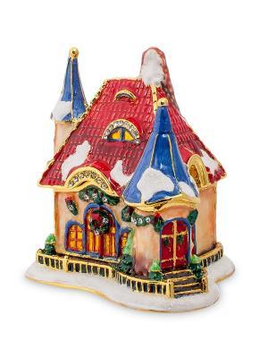 Шкатулка Рождественский домик (Nobility) Nobility. Цвет: красный