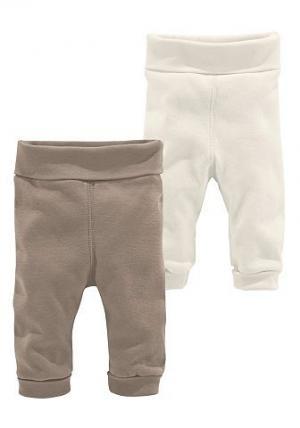 Klitzeklein, трикотажные брюки (2 пары) KLITZEKLEIN. Цвет: коричневый
