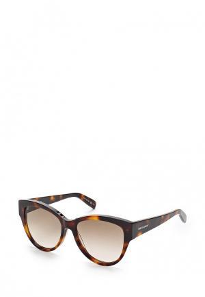 Очки солнцезащитные Saint Laurent. Цвет: коричневый