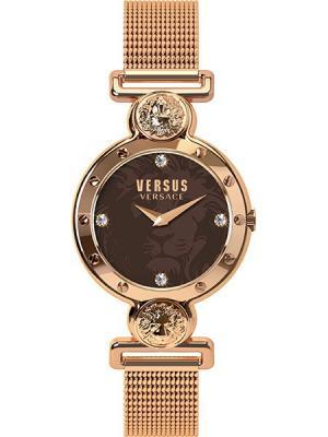 Часы VERSUS VERSACE. Цвет: коричневый, золотистый