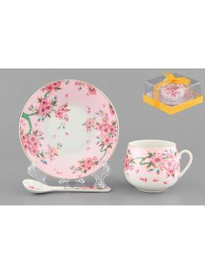 Кофейная пара Сакура Elan Gallery. Цвет: розовый