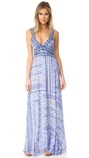 Принтованная & платье с вышивкой OndadeMar. Цвет: турецкий