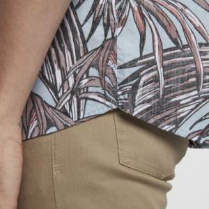 Мужская рубашка с коротким рукавом Hurley Koko Nike. Цвет: синий