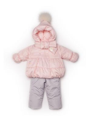 Куртка, полукомбинезон MaLeK BaBy. Цвет: персиковый