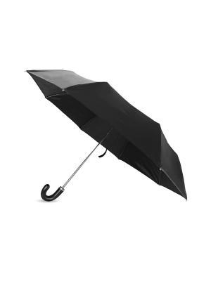 Механический складной зонт Дерево Счастья. Цвет: черный