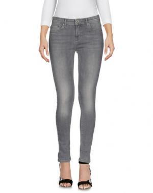 Джинсовые брюки ONLY BLU. Цвет: серый