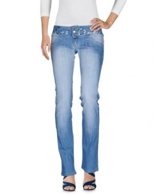 Джинсовые брюки ANGEL DEVIL. Цвет: синий