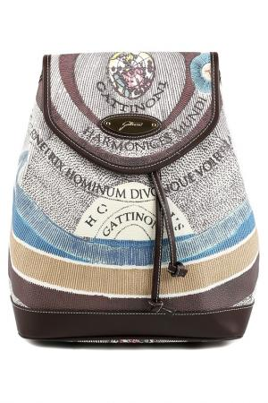 Backpack Gattinoni. Цвет: white, brown, blue