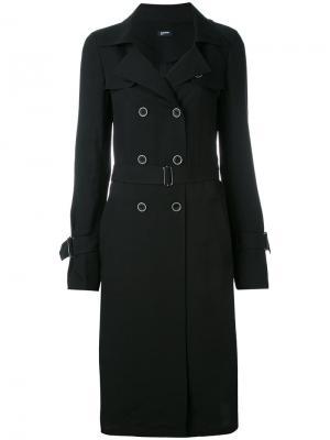 Двубортное летнее пальто Jil Sander Navy. Цвет: чёрный