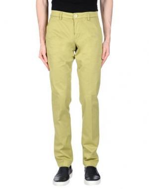 Повседневные брюки MANUEL RITZ WHITE. Цвет: кислотно-зеленый