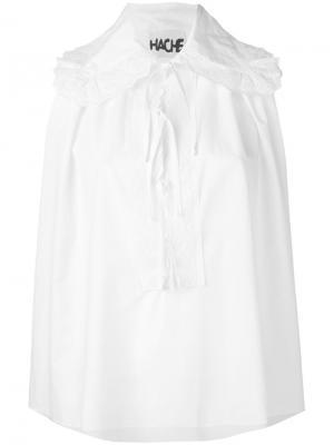 Блузка без рукавов со шнурком Hache. Цвет: белый
