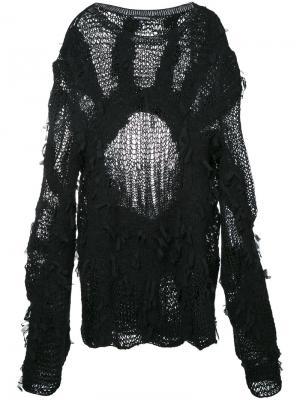 Multi-yarn knit jumper Ann Demeulemeester. Цвет: чёрный