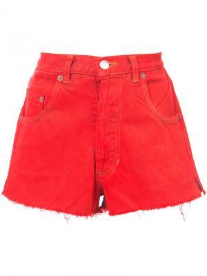 Короткие джинсовые шорты Re/Done. Цвет: красный