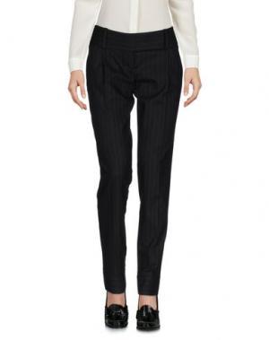 Повседневные брюки MARIAGRAZIA PANIZZI. Цвет: черный