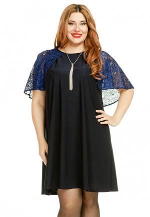 Платье Luxury Plus. Цвет: черный