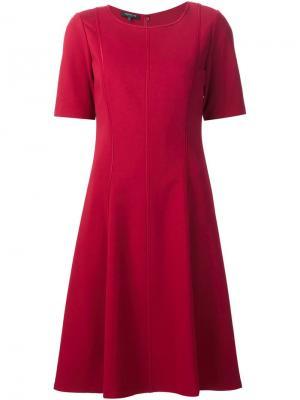 Расклешенное платье Lafayette 148. Цвет: красный