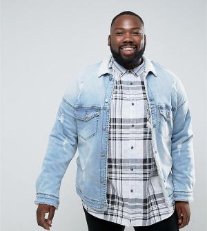 Sixth June Джинсовая куртка с воротником борг и подкладкой из искусственного меха. Цвет: синий