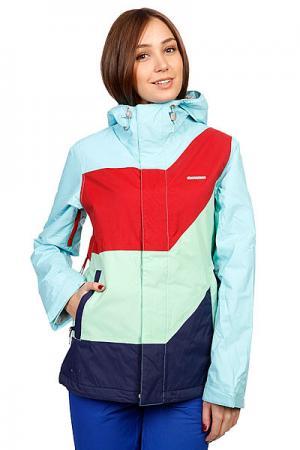 Куртка женская  Snow Jacket May Women Ocean Zimtstern. Цвет: голубой,зеленый,красный,синий