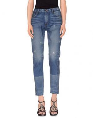 Джинсовые брюки TORTOISE. Цвет: синий