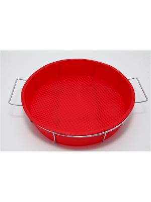Форма силиконовая 25x6см, круглая на мет. подставке, HS-305 Vetta. Цвет: красный