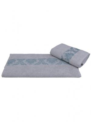 Махровое полотенце 100x150 RUZANNA, серо-голубой, 100% хлопок HOBBY HOME COLLECTION. Цвет: серо-голубой