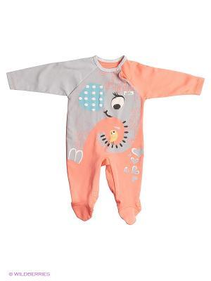 Комбинезон для малышей WO&GO. Цвет: коралловый, серый